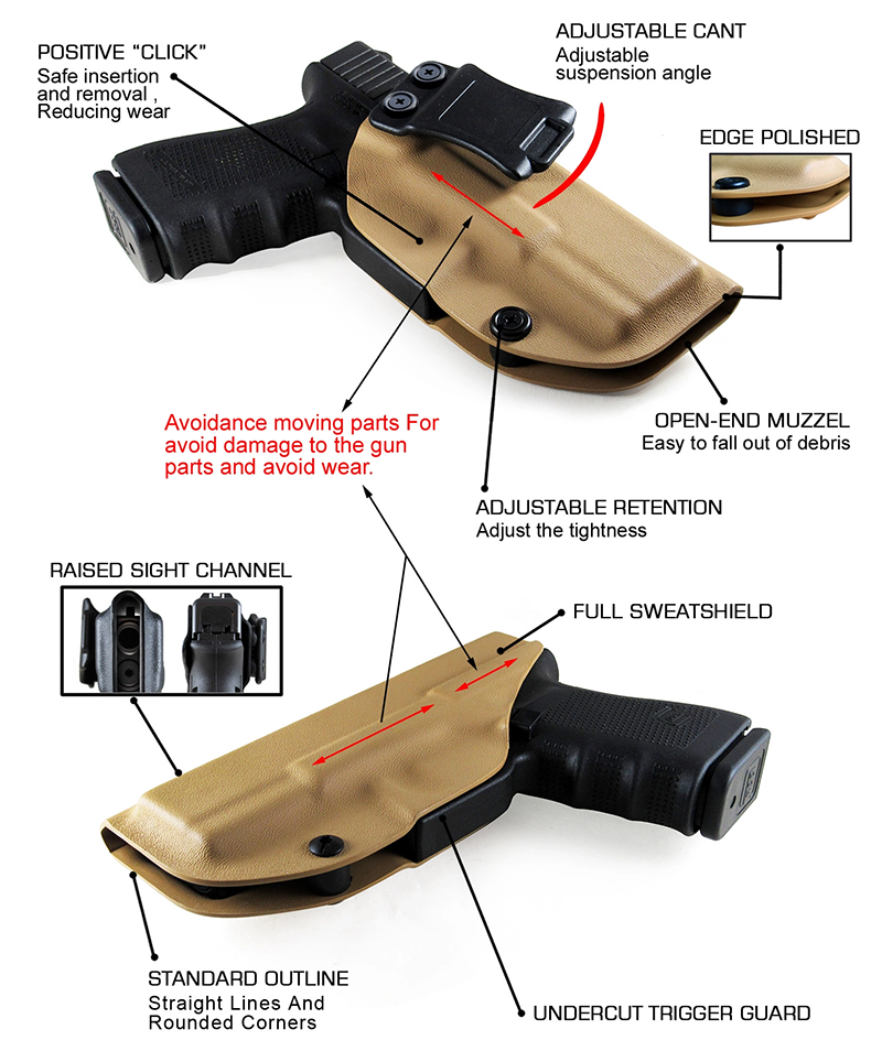 Kydex OWB Concealment Holsters