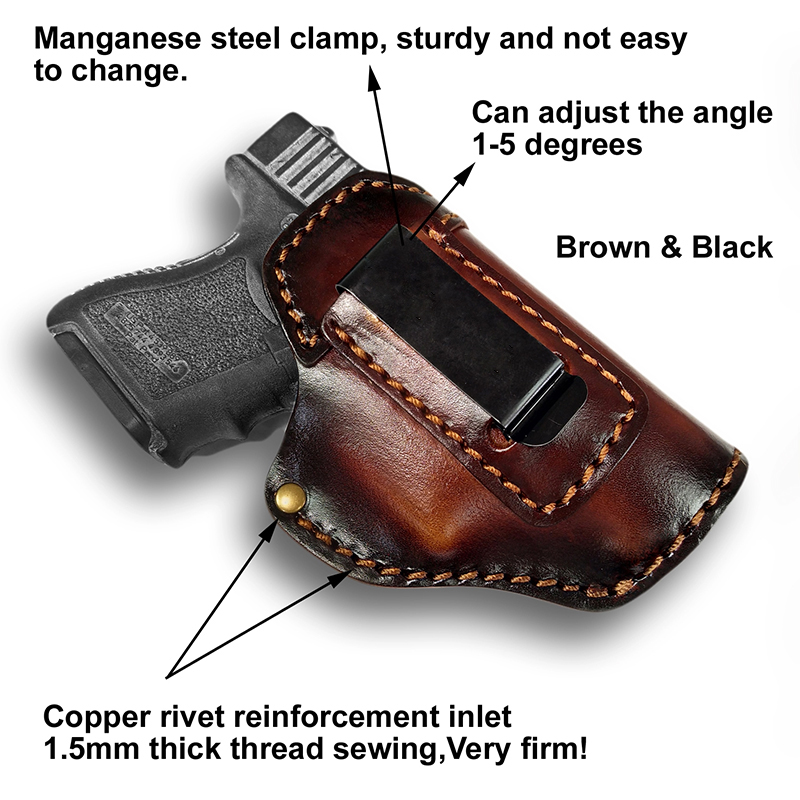 leather iwb concealment holsters